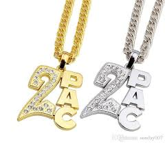 white gold crystal necklace images Wholesale men women 18k gold plated 2pac pendants bling christmas jpg