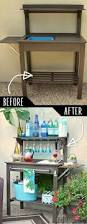 potting bench turned outdoor bar bench bar and creative