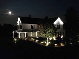 Landscape Lighting Installation - bright landscape light with professional lighting installation