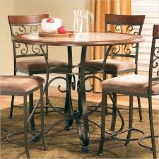 high top round kitchen table buy thompson round counter height dining table by steve silver from