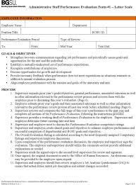 download administrative staff performance appraisal template