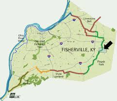 Louisville Map Fisherville Ky Concept Urbancomposition