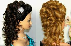 cute curly prom hairstyles for medium hair