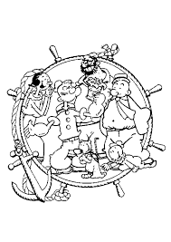 popeye the sailor plays the guitar coloring pages hellokids com