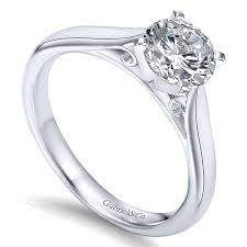 cathedral setting 14k white gold solitaire four prong with cathedral setting 14k