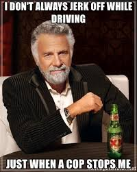 Jacking Off Memes - i don t always jerk off while driving just when a cop stops me the