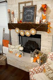 rustic farmhouse fall mantel decor lillian hope designs