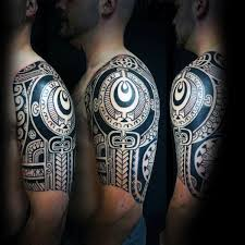 75 half sleeve tribal tattoos for men masculine design ideas