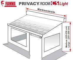 Fiamma Awning Parts Fiamma Privacy Room Cs Light Für Caravan Store Markise Mit Fast