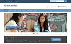 college green education template other bootstrap templates