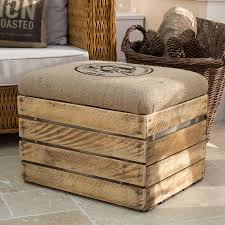 Make Storage Ottoman by Wooden Crate Storage Box Seat With Lining Need To Figure Out How