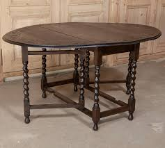 Drop Leaf Oak Table Gateleg Drop Leaf Oak Table At 1stdibs