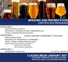 brewing and fermentation certificate lakes region community