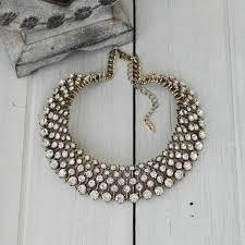 necklace rhinestone images Royal gold rhinestone statement necklace by nikita by niki jpg