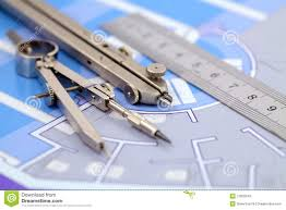 architecture plan u0026 tools stock image image of interior 12803343