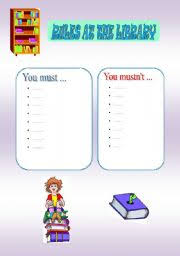 english teaching worksheets at the library