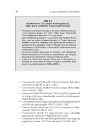 2 purposeful assessment early childhood assessment why what