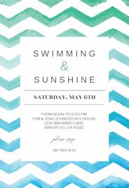 free printable summer u0026 pool party invitation templates