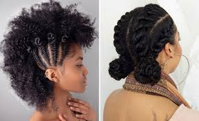 curly hair in high bun with bang 21 chic and easy updo hairstyles for natural hair stayglam