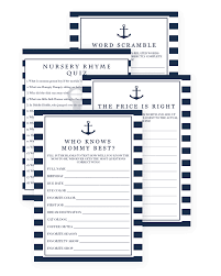 nautical games for a boy baby shower printable baby shower games