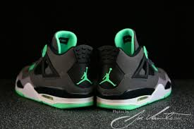 green glow 4 green glow air 4 theshoegame sneakers information