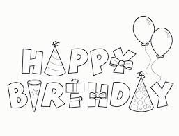 picture happy birthday coloring pages 557200 coloring pages for
