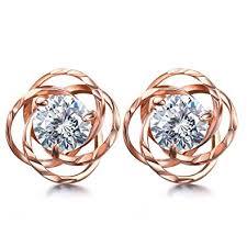 gold stud earrings for women j shine gold stud earrings women with 925 sterling silver 3a