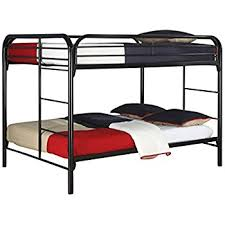 amazon com dhp full over full metal bunk bed sturdy frame with