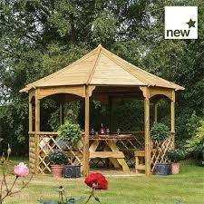 willow gazebo wood n garden timber fencing garden furniture decking summer