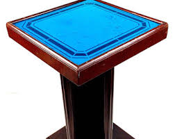 Blue Accent Table Art Deco Side Table Etsy