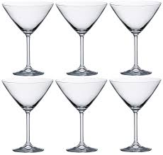 cocktail martini set of 6 bohemian crystal martini glasses cocktail glasses 280ml