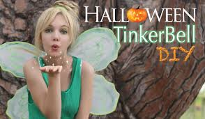 diy halloween costume super easy cheap tinker bell makeup youtube