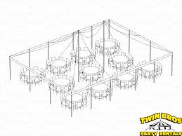 how many can sit at a 60 round table 30x40 pole tent layouts pictures diagrams rentals