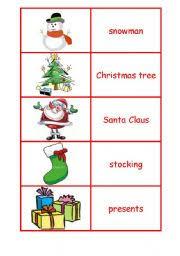 esl worksheets for beginners christmas flash cards