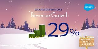 salesforce report thanksgiving day sales up 29 mobile wins