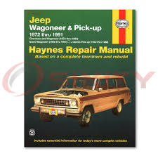jeep grand wagoneer haynes repair manual base limited shop service