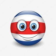 Costarican Flag Costa Rica Flag Smile Icon U2014 Stock Vector I Petrovic 111567438
