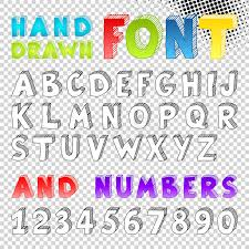 hand drawn sketch font stock photography image 28654922