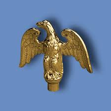 indoor flagpole ornaments metal perched eagles
