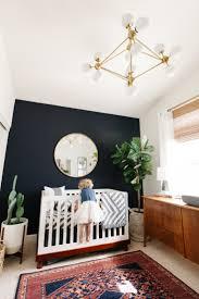 Boy Nursery Chandelier Levi U0027s Nursery Reveal Fiddle Fig Tree Navy Accent Walls And