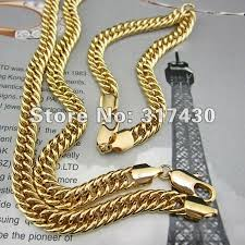 mens gold curb necklace images Online cheap wholesale heavy 24k yellow gold filled men 39 s necklace jpg