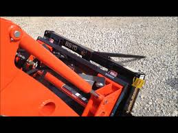 front loader hydraulic quick attach coupler youtube