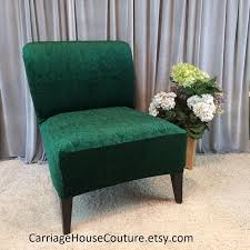 green chair covers emerald green embossed velvet slipcover chair cover for