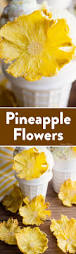 how to make dried pineapple flowers video tutorial ashlee marie