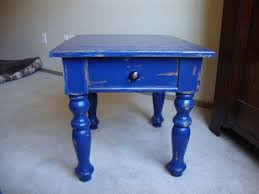 austin cobalt blue hand distressed shabby chic end table 125