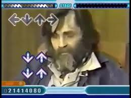 Charles Manson Meme - charles manson dancing ddr everytime we touch coub gifs with