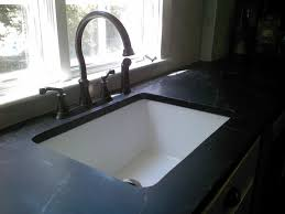 white sink black countertop kitchen dining single bowl undermount white sink and double
