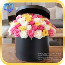 black roses delivery wholesale matte black flower shipping hat boxes packaging for sale