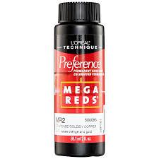 l u0027oreal preference mega reds permanent haircolor