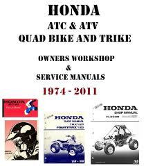 honda motorcycle atc u0026 atv quad trike owners and repair service